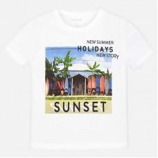 Mayoral-Тениска с принт плаж със сърфове