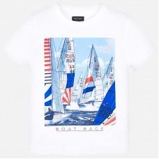 Mayoral-Тениска с принт платноходки